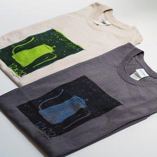 シルクスクリーン・Tシャツ(十二ヵ月ドリップポット) / size-L