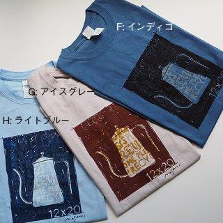 シルクスクリーン・Tシャツ(十二ヵ月ドリップポット) / size-M