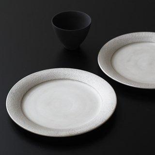銀彩 リム皿
