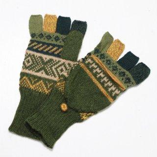 アルパカ ミトン手袋GU AU972