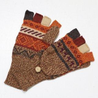 アルパカ ミトン手袋GU AU964