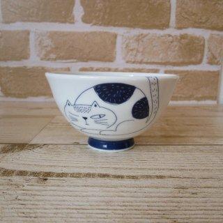 noafamily 《ノアファミリー》美濃焼 ウチ猫茶碗(丸猫)