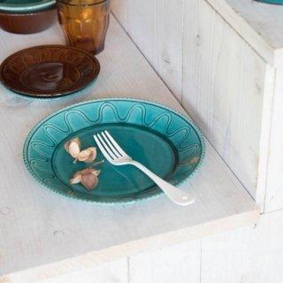 美濃焼 ウェーブ・パターン トルコ釉 (大皿)