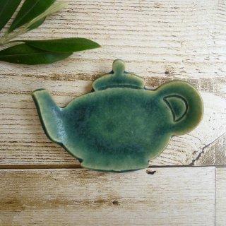 sunny-craft サニークラフト  豆皿 ティーポット(グリーン)