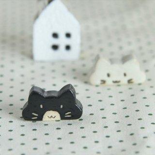 美濃焼 のんびり猫 箸置き 黒猫