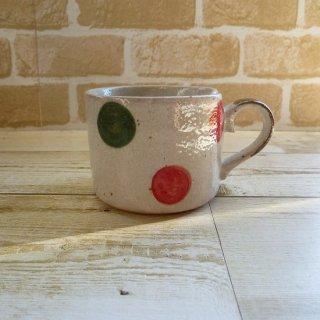 美濃焼 リンゴマグカップ (ドット)