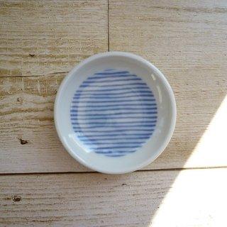 波佐見焼 豆皿/Kuvio white&navy  古典文様(ストライプ)