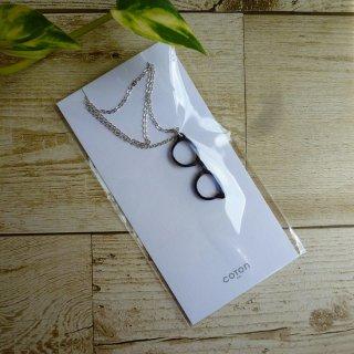 鯖江メガネ ネックレス《メガネ ボストン型》(ブルー)