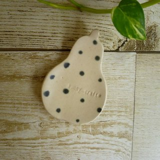 sunny-craft サニークラフト  箸置き 「洋なし」白マットドット