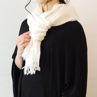 Ense linen stole -white-