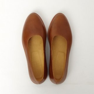 DELMONACO  leather pumps -camel-