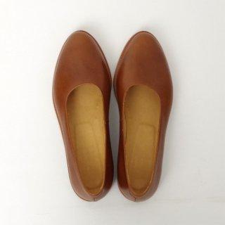 DELMONACO  leather pumps -camel-