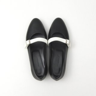 DELMONACO belt pumps -black×white-