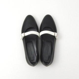 DELMONACO belt pumps -black×white-