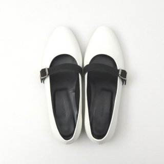 DELMONACO belt pumps -white×black-