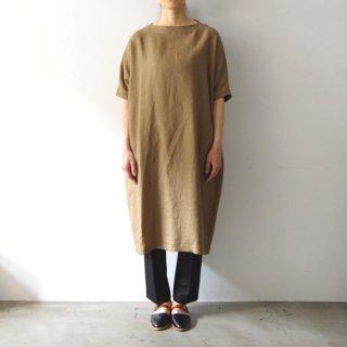 linen one-piece -khaki-