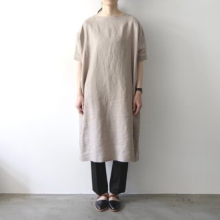 linen one-piece -gray-
