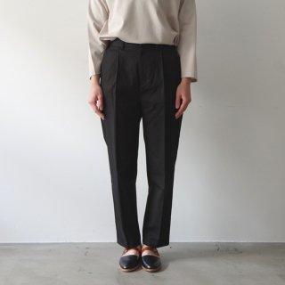 cotton pants -black-