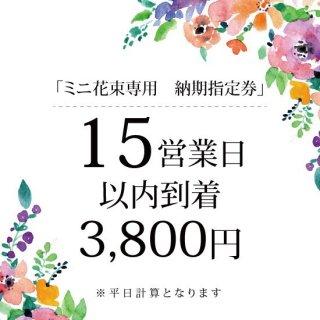 ミニ花束専用【15営業日以内到着】納期指定券