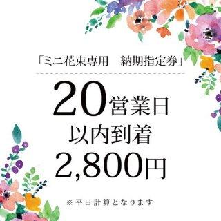 ミニ花束専用【20営業日以内到着】納期指定券