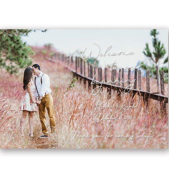 お手持ちのお写真をウェルカムボードに加工 結婚式 名入れ 二次会 ウェルカムアイテム