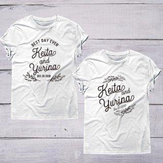 Tシャツ シンプル 名入れ オリジナルTシャツ 前撮り マタニティフォト 結婚式 お祝い