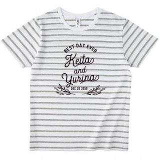 ボーダーTシャツ シンプル 名入れ オリジナルTシャツ 前撮り マタニティフォト 結婚式 お祝い
