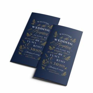 結婚式 席次表 A4【サイズ変更可】三つ折り プロフィール メニュー入