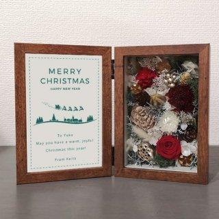 クリスマスギフト クリスマスプレゼント【フラワーフォトボックス】セミオーダー 木箱