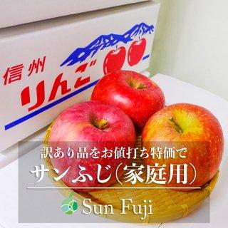 【訳あり】サンふじ(りんご)家庭用 約5kg 長野県産