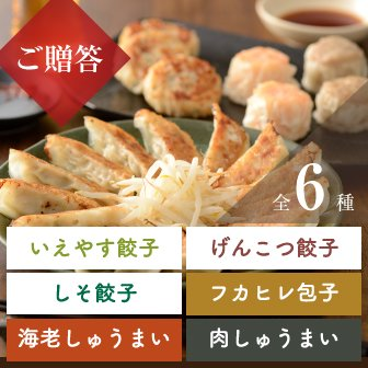 【贈答用/送料込】いえやすギフト 餃子3種、しゅうまい各種の詰め合わせセット(しそ)