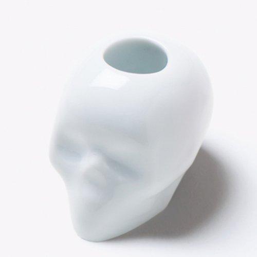 スカル歯ブラシスタンド 白