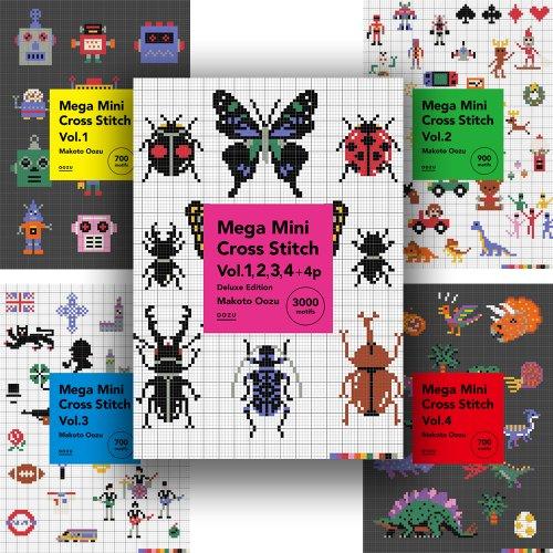 <img class='new_mark_img1' src='https://img.shop-pro.jp/img/new/icons5.gif' style='border:none;display:inline;margin:0px;padding:0px;width:auto;' />【PDFデータ販売・商用利用OK・3000点収録・111P】Mega Mini Cross Stitch Deluxe Edition