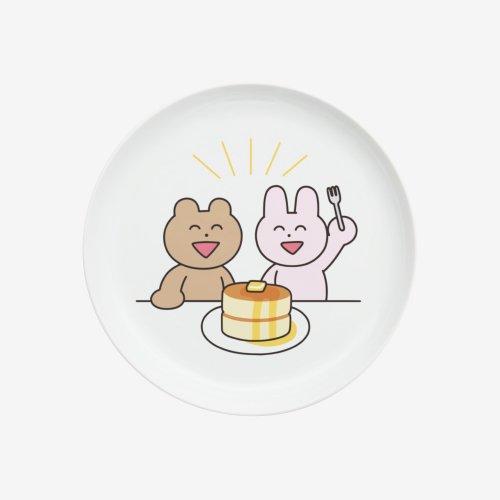 わかるのうさぎとくま プレート(ケーキ)
