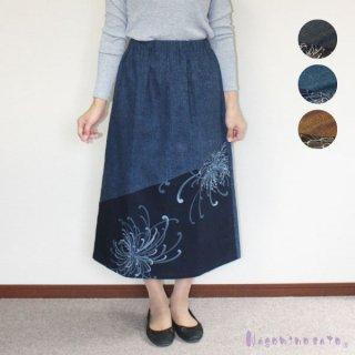 【50%OFF】和柄木綿切替スカート