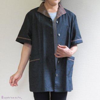 三河木綿半袖ジャケット