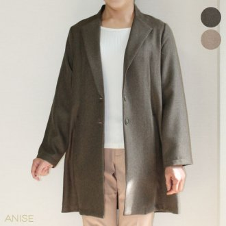 【20%OFF】 変わり織りロングジャケット