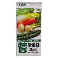 ジャパックス TK-01 0.5斗用漬物袋 (10L〜15L) 透明0.04 【240枚入り】(2枚×10冊×12箱)
