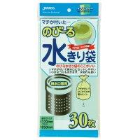 ジャパックス NB21 のびる水切り袋 排水口用マチ付 (30枚) 緑/黄 30枚入り×60冊【1,800枚】