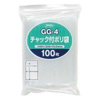 ジャパックス GG-4 チャック付ポリ袋 透明0.04 100枚入り×50冊【5,000枚】