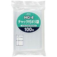 ジャパックス HG-4 チャック付ポリ袋 透明0.04 100枚入り×35冊【3,500枚】
