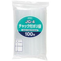 ジャパックス JG-4 チャック付ポリ袋 透明0.04 100枚入り×15冊【1,500枚】