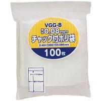 ジャパックス VGG-8 チャック付ポリ袋 厚口 透明0.08 100枚入り×25冊【2,500枚】
