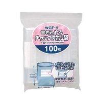 ジャパックス WGF-4 書き込めるチャック付ポリ袋 透明0.04 100枚入り×60冊【6,000枚】