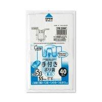 ジャパックス PR26W レジ袋 白半透明 SSサイズ 【2400枚入り】(40枚×60冊)