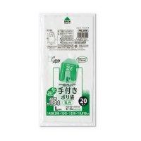 ジャパックス PR29W レジ袋 白半透明 Lサイズ 【1200枚入り】(20枚×60冊)