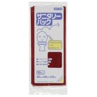 ジャパックス SN-03 サニタリーパック マチ付BOX ワインレッド0.03 【1200枚入り】(10枚×120冊)