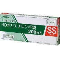 【新規受注停止中】PHB-SS HDポリ手袋 エンボスSS 200枚BOX 半透明 【8000枚入り】(200枚×40箱)