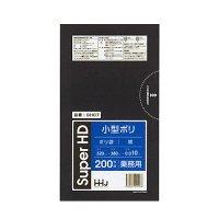 HHJ GH07 小型ポリ袋7L 黒 0.01 【6000枚入り】(200枚×30冊)
