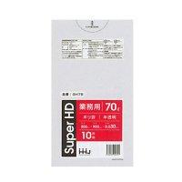 HHJ GH78 ポリ袋 70L 半透明 0.03 【400枚入り】(10枚×40冊)